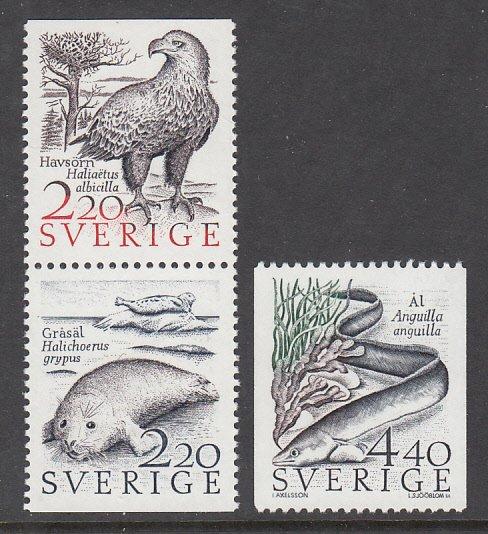 Sweden 1678-1680 Animals MNH VF