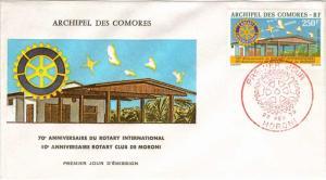 Comoro Islands Scott C67 Unaddressed.