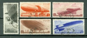 RUSSIA ZEPPELLINS #C53-57  SET...USED NO THINS...CV$52.00