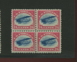 Scott C3 Curtiss Jenny Air Mail Mint Block of 4 Stamps NH (Stock C3-13)