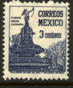 MEXICO 839 3cts 1934 Definitive Wmk Gobierno... (279)  UNUSED, NO GUM
