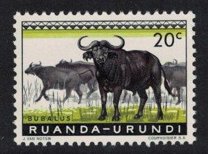 Ruanda-Urundi African Buffaloes 20c SG#204 MI#162A