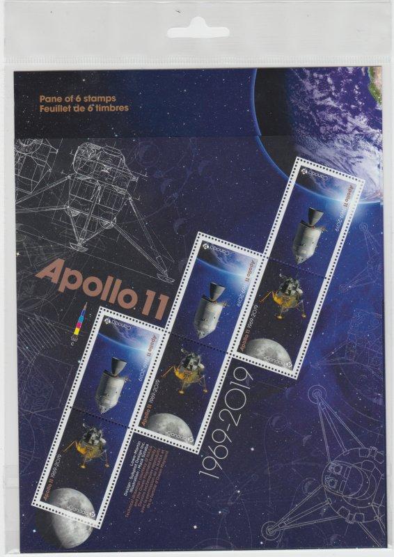 Canada - #3186-87 Apollo 11 Stamp Pane  - MNH