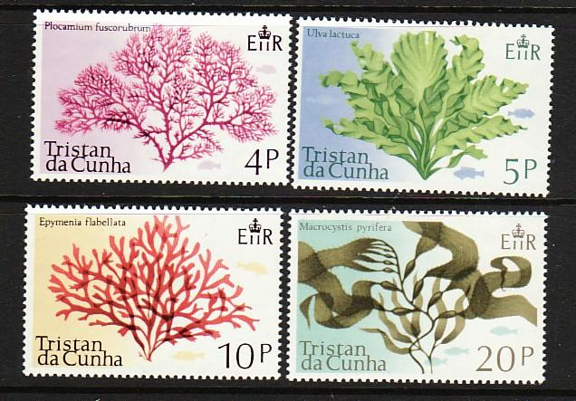 Tristain Da Cunha 198-201 MNH 1975 Aquatic Plants Complete Set VF