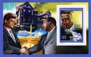 Chad 1998 Martin Luther King/J.F.Kennedy/Bird SS MNH Mi1634