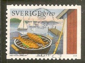 Sweden   Scott 2591b  Fish on Grill Used