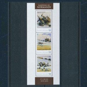 [106648] Guinea Bissau 2012 World War II landing Normandy Sheet MNH