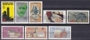Germany #1266, 1269-72, 1274-6 MNH CV $7.35 (Z7553)