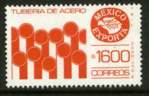 MEXICO Exporta 1595, $1600P Iron Pipes Fluo Paper 10. MINT, NH. F-VF.