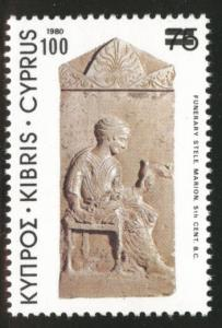 Cyprus Scott 584 MH* 1982 surcharge