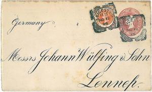 GB - POSTAL STATIONERY to GERMANY - 1896