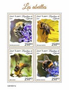 Z08 IMPERF DJB190511a DJIBOUTI 2019 Bees MNH ** Postfrisch