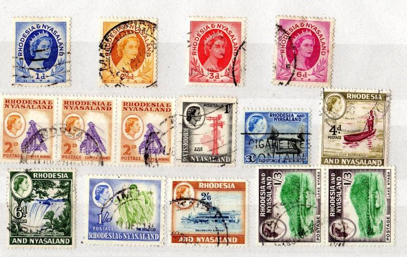 Rhodesia and Nyasaland QEII Collection Very Good Used X5077