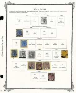 Gold Coast Australia Collection Of 33 Early Stamp