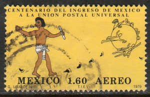MEXICO C611, Centenary of Mexicos admission to the UPU USED. F-VF. (713)