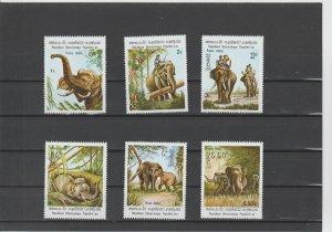 Laos  Scott#  355-360  MNH  (1982 Indian Elephants)