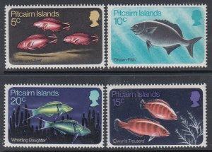 Pitcairn Islands 114-117 Fish MNH VF