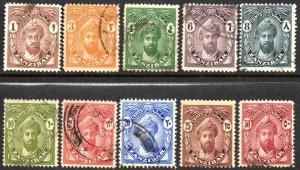 1926 Zanzibar Sg 299/308 Short Set of 10 Values Fine Used