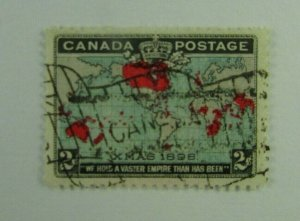XMAS 1898  Canada SC #86   Used   F-VF 2 cent stamp
