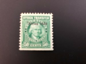 RD295 Stock Transfer XF MNH Overprint 1949