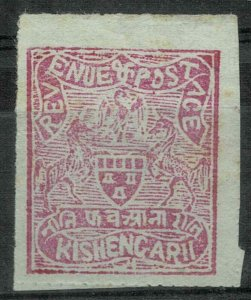 India Kishengarh Scott # 24a mint hinged 1913