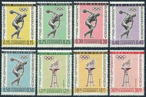 Paraguay 707-714,MNH.Michel 1111-1118. Olympic Games History.1962.