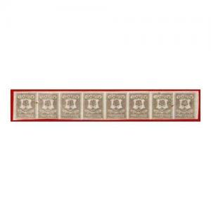Circular Delivery SGCD51a Glasgow 3/4d brown lilac mint horizontal group of eig