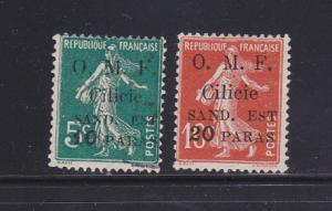 Cilicia 111-112 MNG Overprints