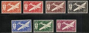 New Caledonia C7-13 1942 Planes set MNH