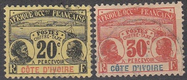 Ivory Coast #84-5  F-VF Used CV $19.00 (A16802)