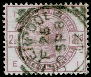 SG190, 2½d lilac, USED. Cat £20. EI