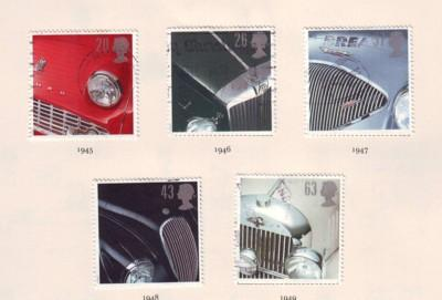 Great Britain Sc 1703-7 1996 Classic Cars stamps used