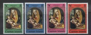 Cayman Islands - Scott 242-45- Christmas -1969 - MH - Short Set 4 X 1/4c Stamp