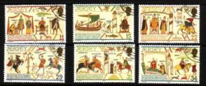 Jersey Sc 431-6 1987 William the Conqueror stamp set used