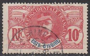 Ivory Coast 25 Used CV $6.50