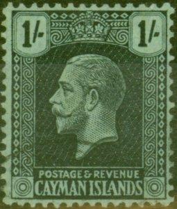 Cayman Islands 1925 1s Black-Green SG79 V.F.U