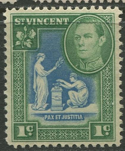 St Vincent - Scott 156 - KGV Definitive -1949 - MLH - Single 1c Stamp