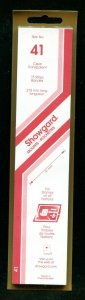 CLEAR Showgard Strip Mounts Size 41 = 41mm Fresh New Stock Unopened CLEAR