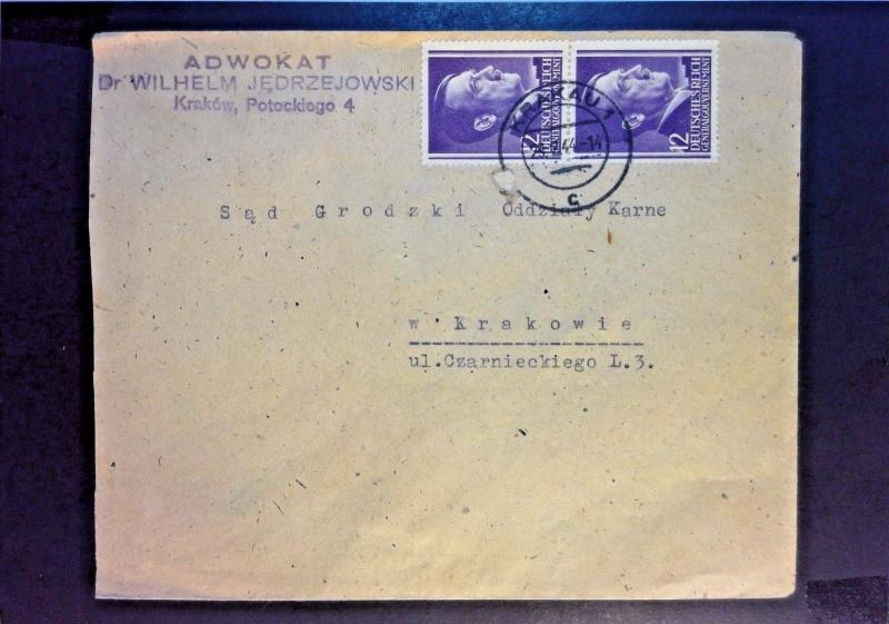 Poland 1944 Occupation Cover  - Z1055