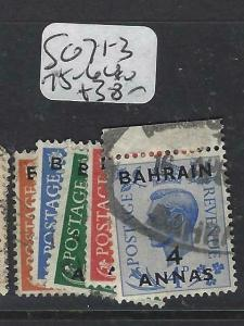 BAHRAIN  (P1904B)  ON GB  KGVI    SG 71-3, 75-6      VFU
