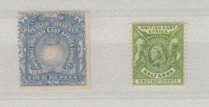 British East Africa QV 1890 4R (Coil) 1/2A SG18/65 MH J6785