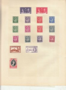 ST LUCIA ALBUM PAGE  VALUES MOSTLY 1937-55, MINT/USED