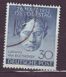 J23176 JLstamps 1952 berlin germany set of 1 used #9n80 music beethoven