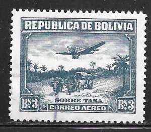 Bolivia C634: B3 Aircraft and Oxcart, used, VF