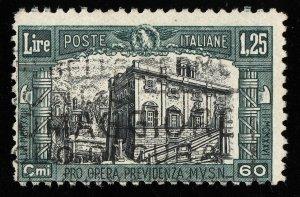 01735 Italy Scott B28, 1.25 Lire semipostal used, SCV = $72.50