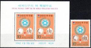 Korea #904, 904a MNH CV $4.80 (X7157)