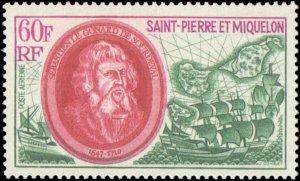 St. Pierre & Miquelon #C47-C49, Complete Set(3), 1970, Ships, Never Hinged
