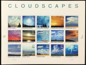 3878   Cloudscapes   Cloud Formation   37c MInt Sheet of 20    $5.55 face