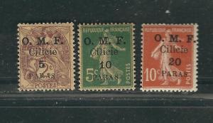 Cilicia 117-19 Yv 98-100 MN F/VF 1920 SCV $4.50