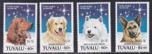 Tuvalu # 662-665, Dogs, NH, 1/2 Cat